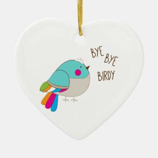 Bye Bye Birdy Ceramic Ornament