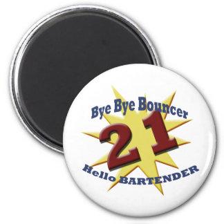 bye bye bouncer 2 inch round magnet