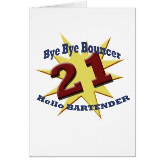 bye bye bouncer greeting card