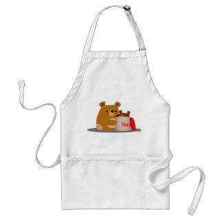 Bye Bye Honey! Cute Cartoon Bears Apron