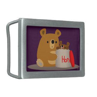 Bye Bye Honey! Cute Cartoon Bears Belt Buckle