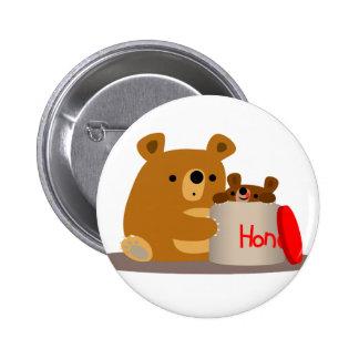 Bye Bye Honey! Cute Cartoon Bears Button Badge