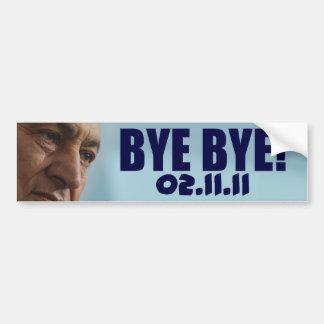Bye Bye Mubarak - 02.11.11 Bumper Sticker