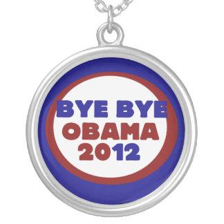Bye Bye Obama Round Pendant Necklace