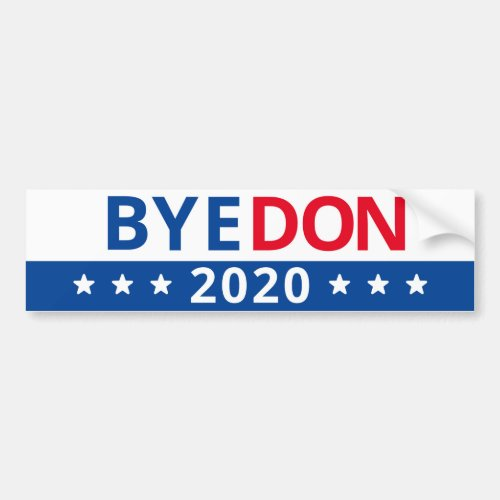 BYE DON 2020 BUMPER STICKER