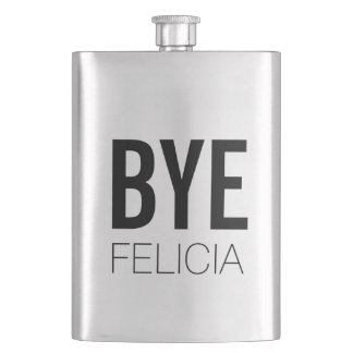 BYE Felicia Bold Black Hip Flask