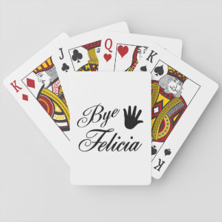Bye Felicia Fancy Waving Hand Playing Cards