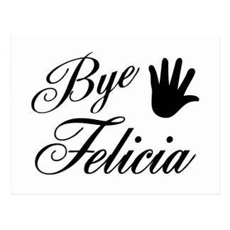 Bye Felicia Fancy Waving Hand Postcard