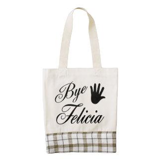 Bye Felicia Fancy Waving Hand Zazzle HEART Tote Bag