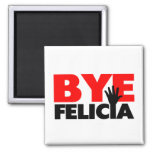 Bye Felicia Hand Wave 2 Inch Square Magnet