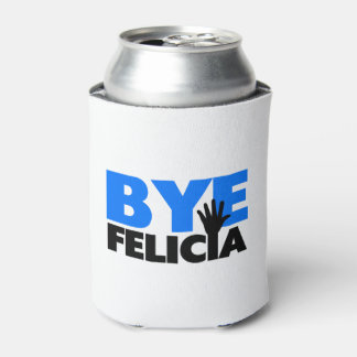Bye Felicia Hand Wave Bold Blue Can Cooler