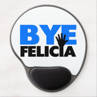 Bye Felicia Hand Wave Bold Blue Gel Mouse Pad