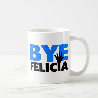 Bye Felicia Hand Wave Bold Blue Classic White Coffee Mug