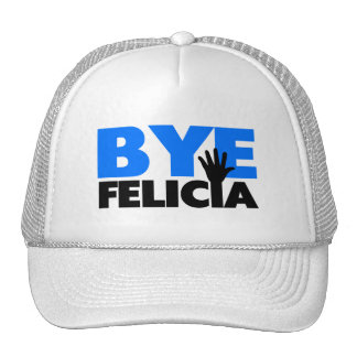Bye Felicia Hand Wave Bold Blue Trucker Hat