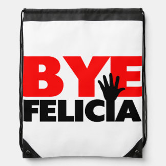 Bye Felicia Hand Wave Drawstring Backpack