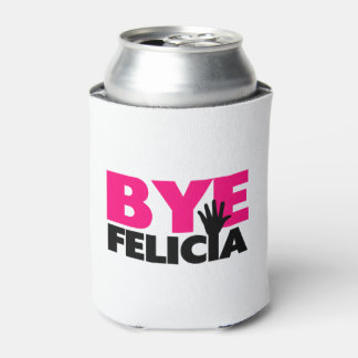 Bye Felicia Hand Wave Hot Pink Can Cooler