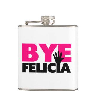 Bye Felicia Hand Wave Hot Pink Flask