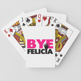 Bye Felicia Hand Wave Hot Pink Playing Cards