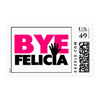 Bye Felicia Hand Wave Hot Pink Postage