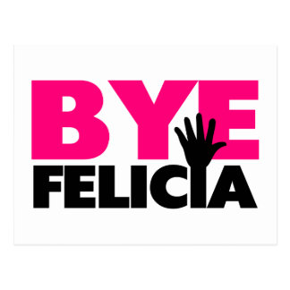 Bye Felicia Hand Wave Hot Pink Postcard