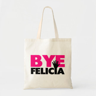 Bye Felicia Hand Wave Hot Pink Tote Bag
