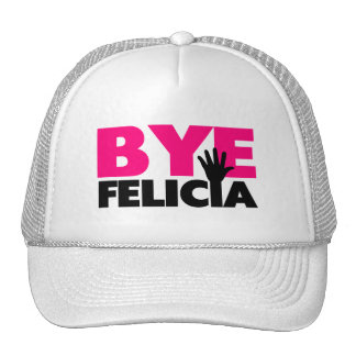 Bye Felicia Hand Wave Hot Pink Trucker Hat