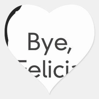 bye felicia heart sticker