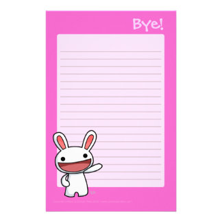 Bye Writing Pad Stationery