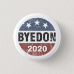 "ByeDon 2020 Bye Don Vintage Funny Joe Biden Button<br><div class=""desc"">Vintage button red,  white and blue distressed design</div>"