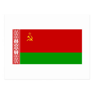 Byelorussian SSR Flag Postcard