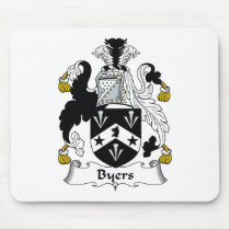 Byers Family Crest Mousepad