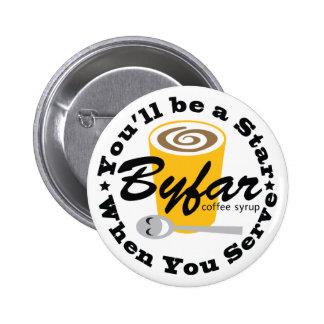 Byfar Coffee Syrup '38 Logo Button
