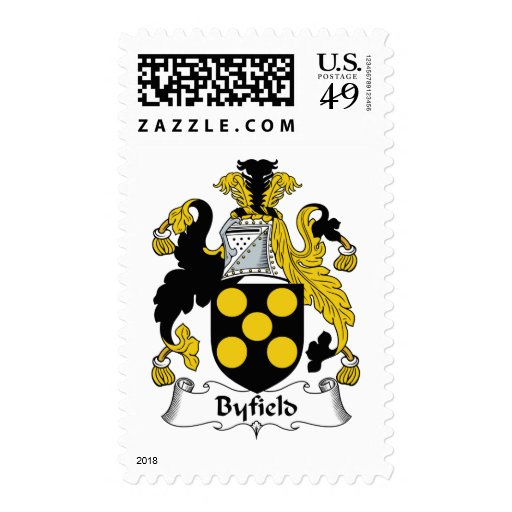 Byfield Family Crest Postage