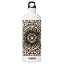 Bygone Love Mandala Kaleidoscope Pattern Aluminum Water Bottle