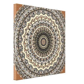 Bygone Love Mandala Kaleidoscope Pattern Canvas Print