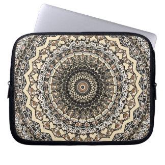 Bygone Love Mandala Kaleidoscope Pattern Computer Sleeve