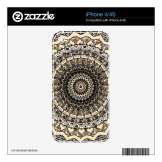Bygone Love Mandala Kaleidoscope Pattern iPhone 4 Decal