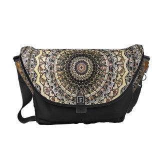 Bygone Love Mandala Kaleidoscope Pattern Messenger Bag