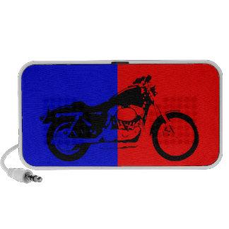 Byke red and blue mini speakers