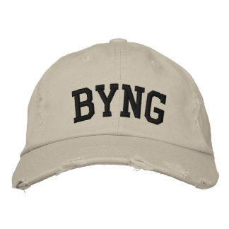 Byng Embroidered Hat Embroidered Baseball Cap