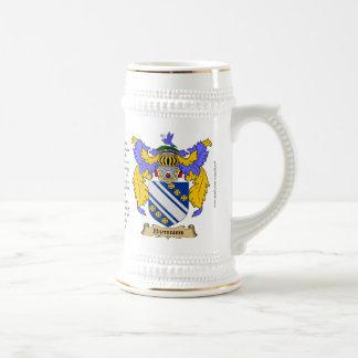 Bynum nombra, el origen, el significado y el escud taza de café