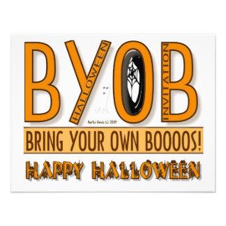 BYOB Bring Your Own Boos Halloween Invitation