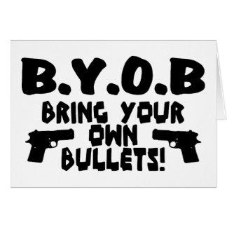 BYOB GREETING CARD