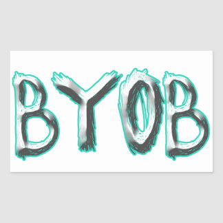 BYOB RECTANGULAR STICKER