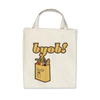 byob! To infinity! Organic Canvas Bag