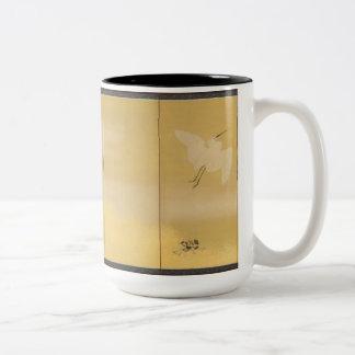 byobu cranes mug II