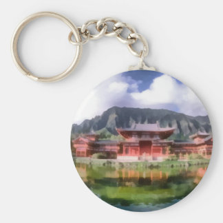 Byodo-In Temple Keychain