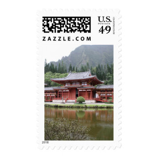 byodo temple hawaii postage