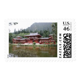 byodo temple hawaii stamps