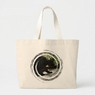 BYOG Black Cat Yoga Large Tote Bag